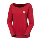 Ladies' Sponge Fleece Wide-Neck Sweatshirt