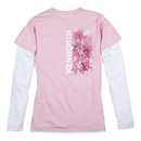 Ladies' Floral Grille Layered T-shirt