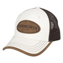 Leather-Wrapped Canvas Cap