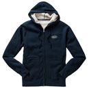Sherpa-Lined Zippered Hoodie