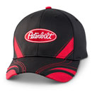 Black Fitted Racing Stripe Cap